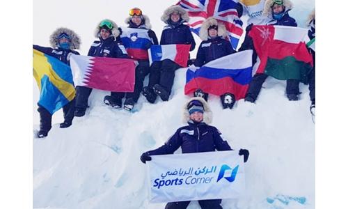 Top of the World: Sports Corner-sponsored Sheikha Asma conquers North Pole