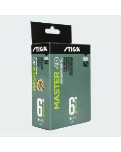 Stiga Master 40+ 6-Pack Table Tennis Balls